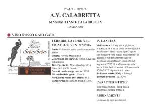 Calabretta - Gaio Gaio rosso