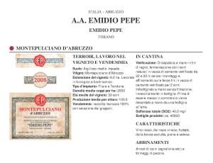Emidio Pepe - Montepulcano d' Abruzzo